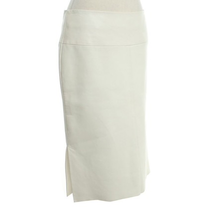 Drome Leather skirt in cream