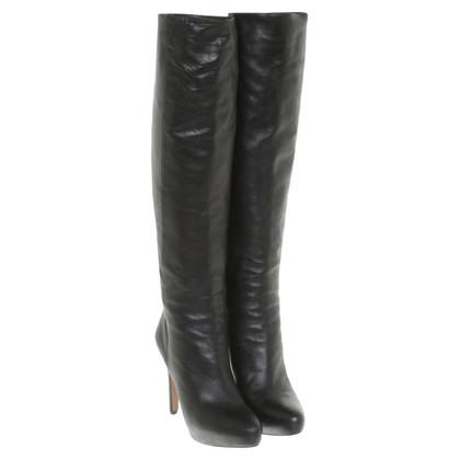 Prada Leren laarzen in zwart