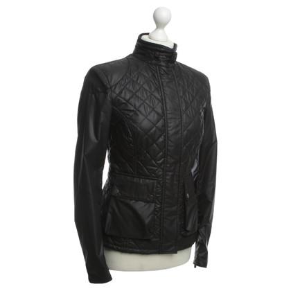 Belstaff Doorgestikte jas in zwart