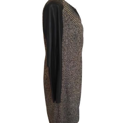 Riani Tweedkleid mit Lederärmeln