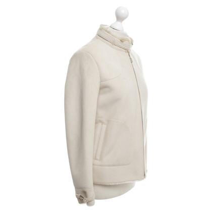 Christian Dior Giacca in pelle di agnello in crema