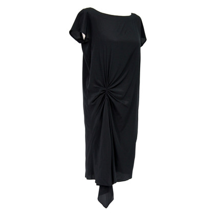 DKNY tunica di seta in nero
