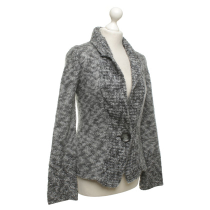 Marc Cain Knit Blazer in Gray