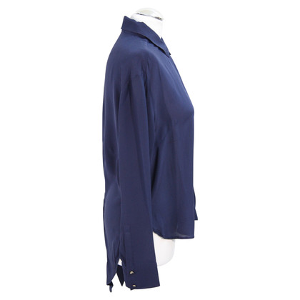 French Connection Zijden blouse in donkerblauw
