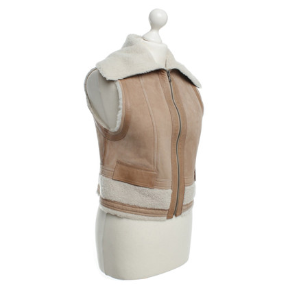 Strenesse Blue Lamb fur vest in beige