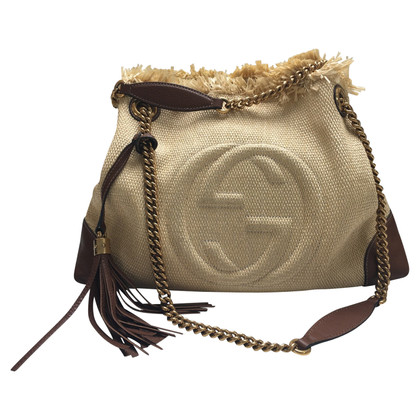 Gucci Summer handbag in raffia