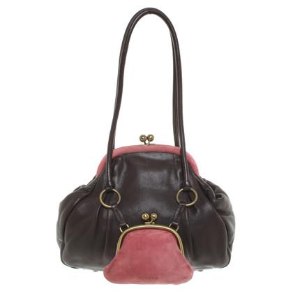 Miu Miu Handbag in dark brown / red