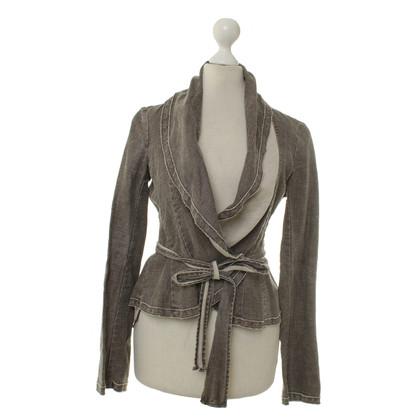 BCBG Max Azria Wrap-ronde jasje in linnen