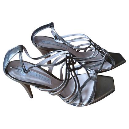 Pura Lopez Band-Sandalette