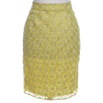 Hoss Intropia Lace skirt in yellow