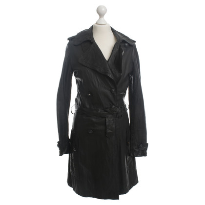 Balmain Leather coat in black
