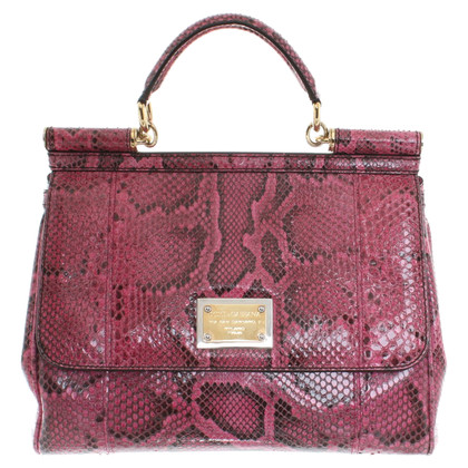 Dolce & Gabbana Handbag Python Leather