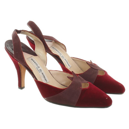 Manolo Blahnik Pumps in Bordeaux