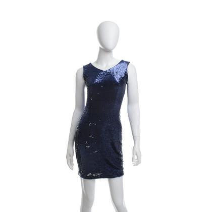 Maje Pailletten jurk zilver/blauw
