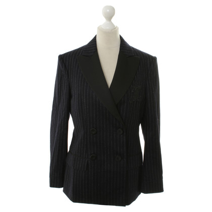 Moschino Dark blue pin-stripe Blazer