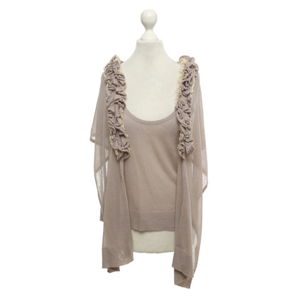 Pinko Top and stole in taupe