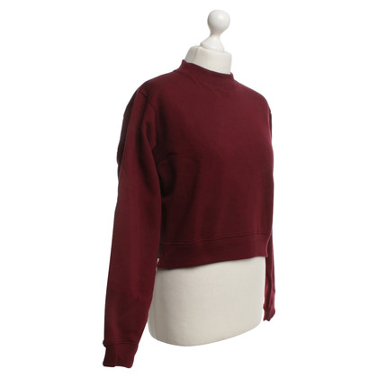 Acne Sweatshirt in Bordeaux red