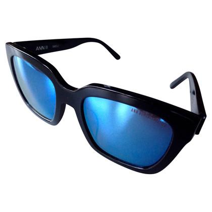 Ann Demeulemeester Sonnenbrille mit Spiegelgläsern