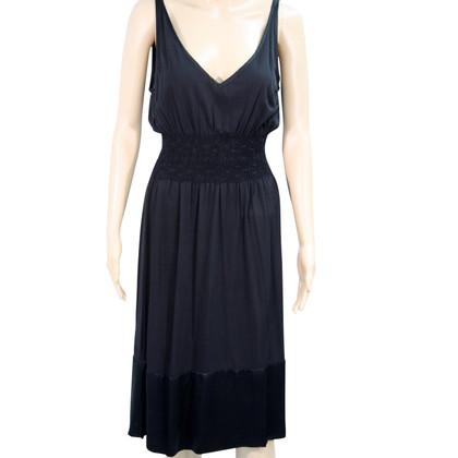 René Lezard zijden jurk in zwart