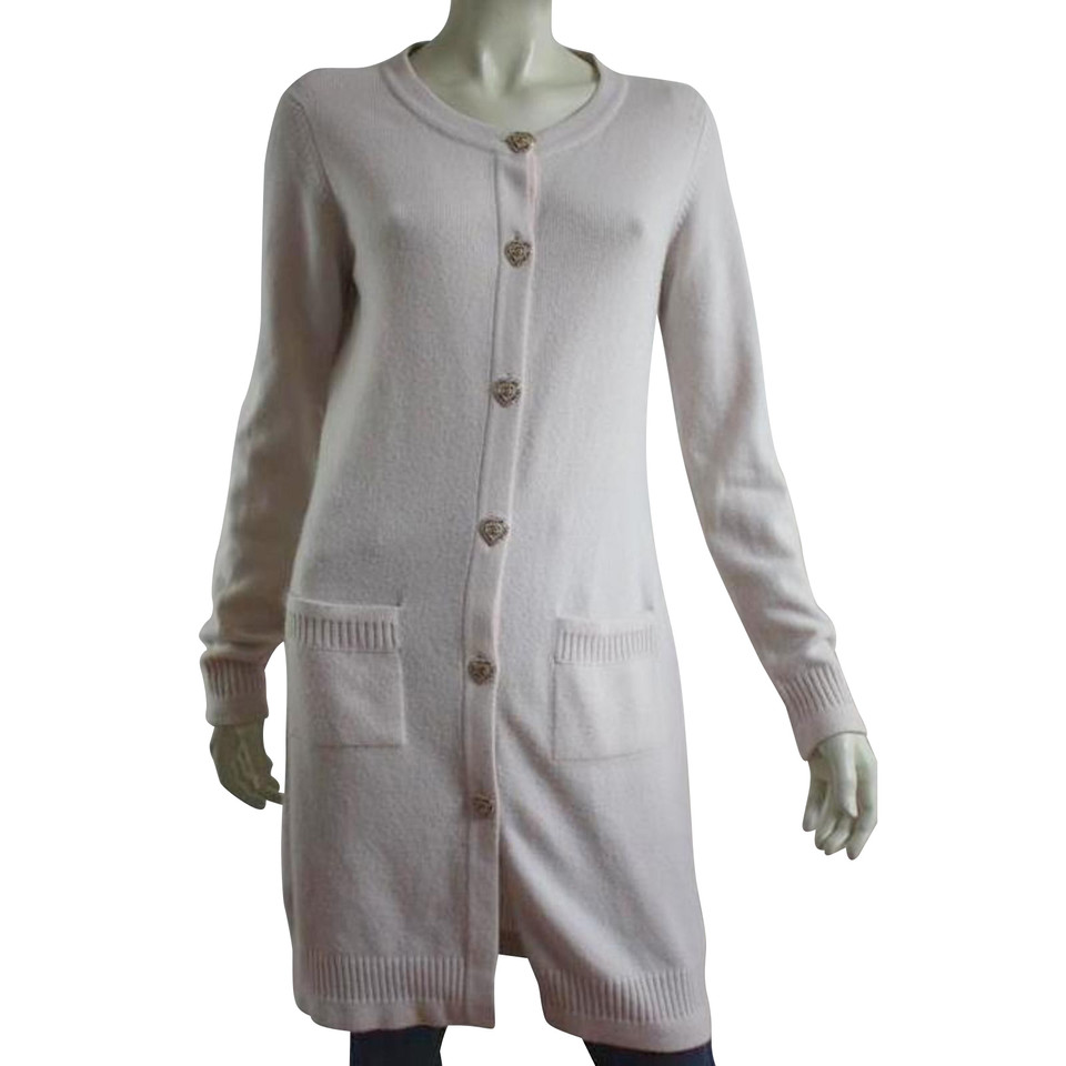 chanel kaschmir cardigan in off white second hand chanel. Black Bedroom Furniture Sets. Home Design Ideas