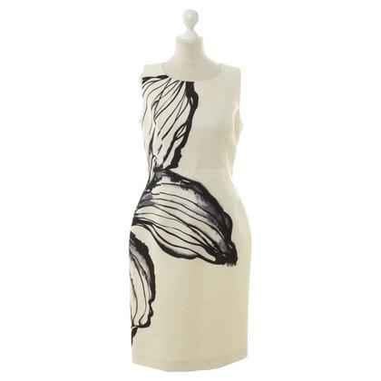 Aquilano Rimondi Schede jurk met een bloemmotief
