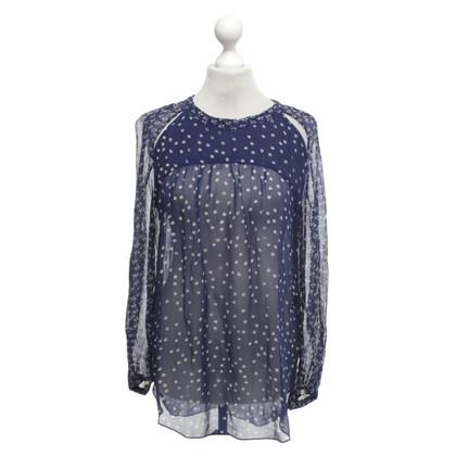 Isabel Marant Etoile Blouse in blue / white