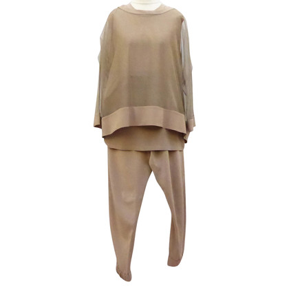 Brunello Cucinelli Silk top with trousers