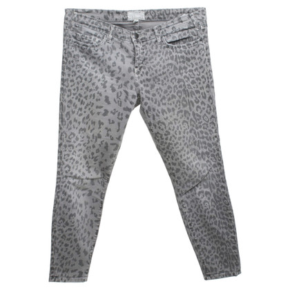 Current Elliott Jeans met luipaardprint