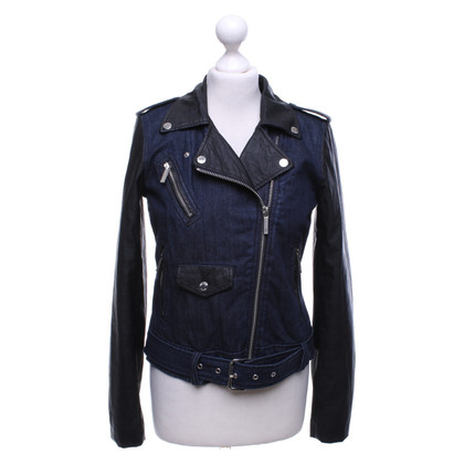 Michael Kors Denim jas in biker-stijl