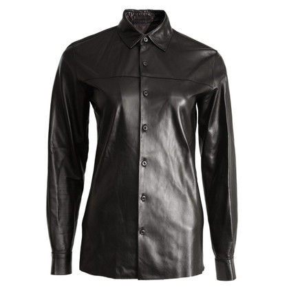 Prada Black leather shirt