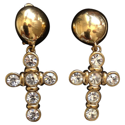 Valentino earrings with rhinestones