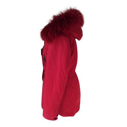 Blonde No8 Winter parka with fur trim