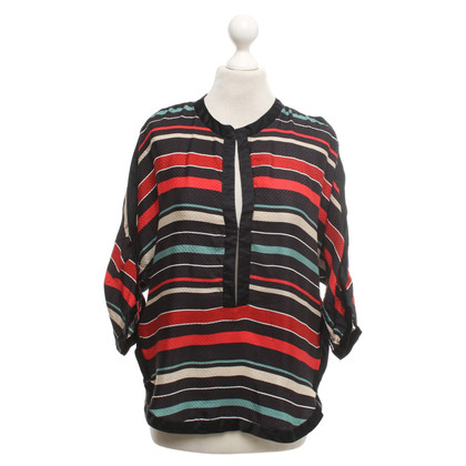 Isabel Marant Silk blouse with striped pattern
