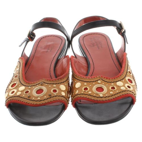 Santoni Sandals with application - Second Hand Santoni Sandals with