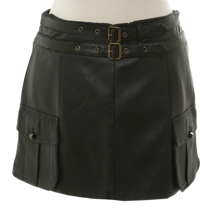 Robert Rodriguez Leather skirt in black