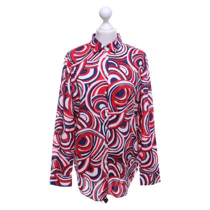 Van Laack Blouse blouse met patroon in driekleur