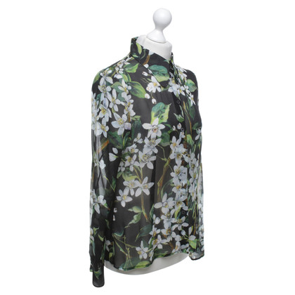 Dolce & Gabbana camicetta di seta con stampa floreale