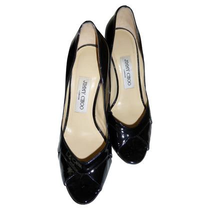 Jimmy Choo Black peep toes