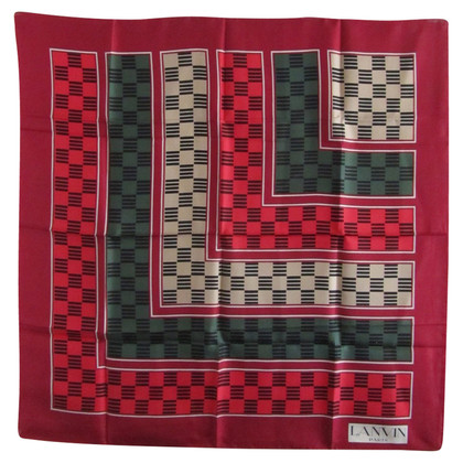 Lanvin Silk scarf with pattern