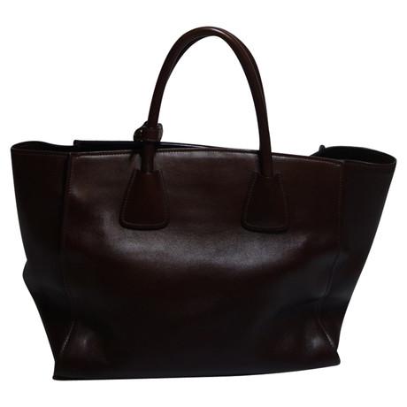 Prada Klassische Tasche Braun Billig Verkaufen Gefälschte wAggE3XAMe