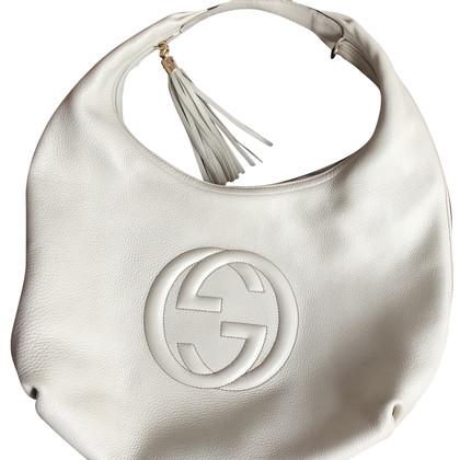 Gucci Borsa a mano in bianco crema