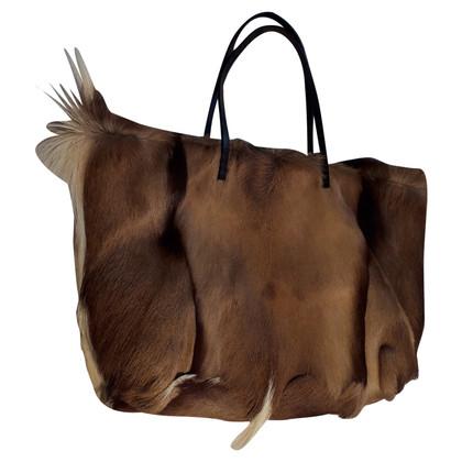 Fendi Handtasche mit Fellbesatz