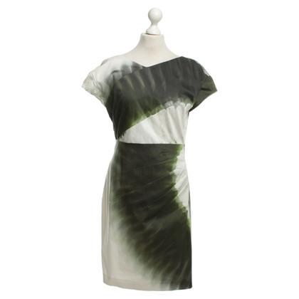 Odeeh Etuikleid mit Muster aus Grün- und Anthrazittönen