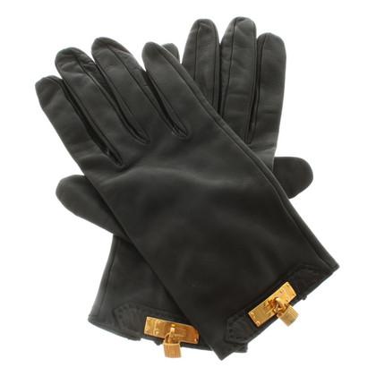 Hermès Leren handschoenen met metalen applicaties