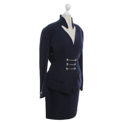 Mugler Suit in Blauw