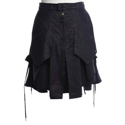 Marithé et Francois Girbaud Pleated skirt in blue