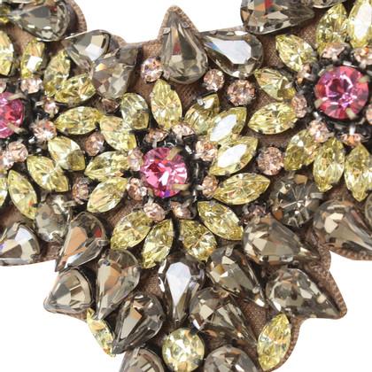 Valentino collier avec des pierres précieuses