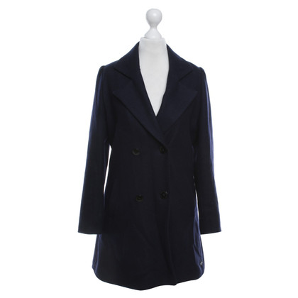 Maison Scotch Coat in donkerblauw