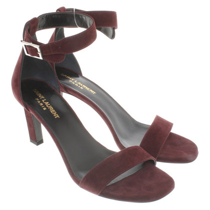 Saint Laurent Sandals in Bordeaux