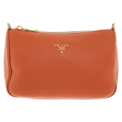 Prada clutch in Orange